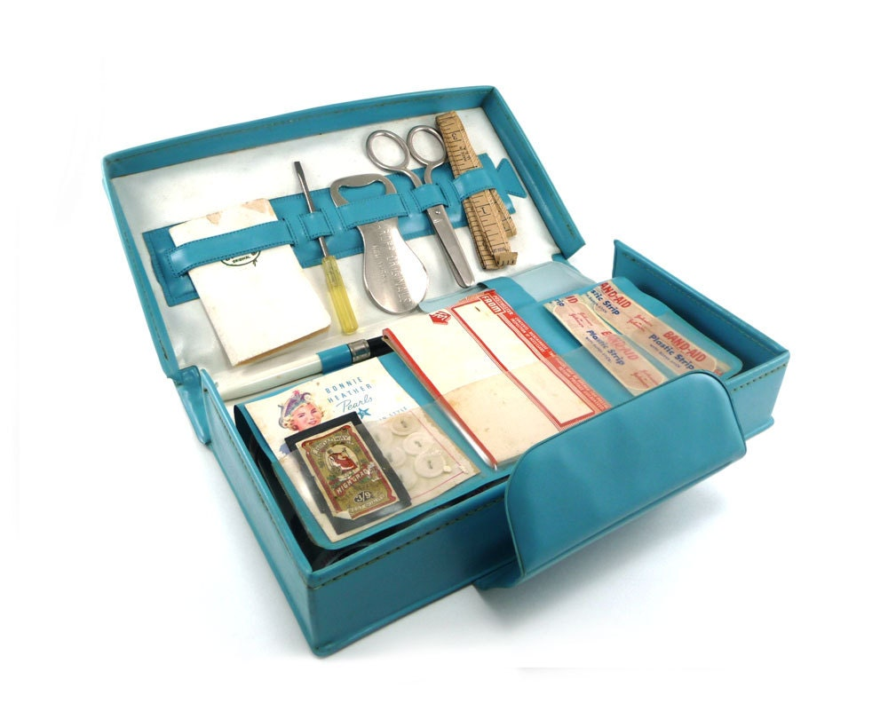 My Girl Friday Home Travel Office Supply Kit In Teal