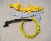 Vintage TMNT Action Figure Belt Lot of 4