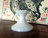 Vintage candle holder opalescent white milk glass
