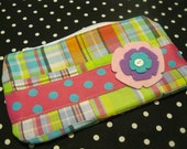 Large Wallet Purse - Colorful - Plaid