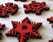 Red Snowflake Ornaments set of 10