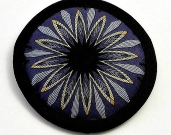 Catnip Toys, Cat Toy, Purple and Black, Abstract Flower Pillow, Halloween Cat Toys, Cool Cat Toys, Fantasy Flower Toy, DAGGER FLOWER