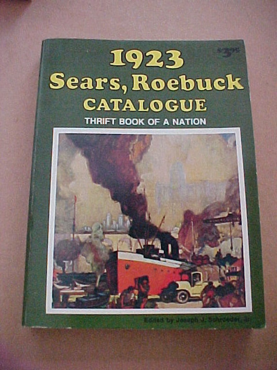 Vintage 70s 1977 Retro 1923 Sears Roebuck Reproduction Catalog Book Fashion History Steampunk