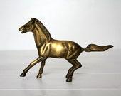 Vintage Brass Horse Figurine