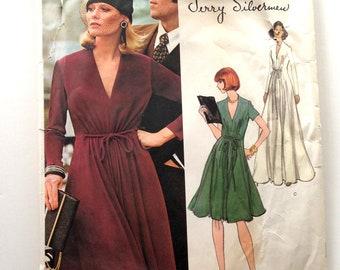 70s Vogue Americana 1117 Jerry Silverman Evening Maxi Dress Size 12 Bust 34