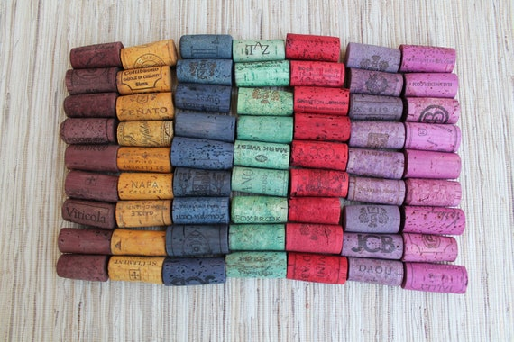 Wine Corks - Rainbow Lot - RESERVED for Kristian