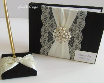 Dupioni Silk Guest Book Wedding Keepsake Book Custom Made