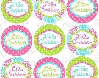 Waterproof Labels, Waterproof Stickers, Name Labels, Dishwasher Safe Daycare Labels, School Labels, Kindergarten Labels, Girl School Labels