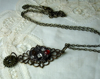 Neo Victorian Steampunk Watch Necklace Pendant
