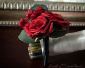 Red Rose Wedding Boutonniere