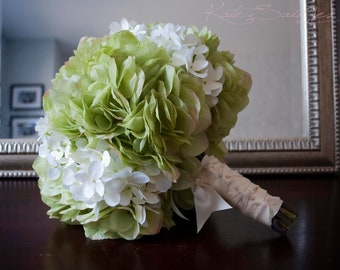 Wedding Bouquet Green and White Hydrangea Bridal Bouquet