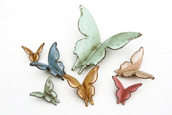 Wall Butterflies - Wildflowers