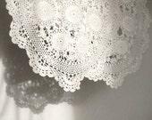 """Vintage white crochet runner, 38"""" long RUNNER"""