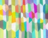 Trapezoid Love Canvas Art Print