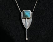 Sterling & Peruvian Opal  Necklace