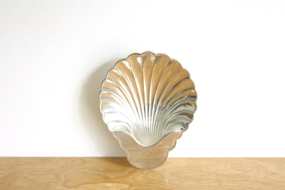RESERVED: Vintage Silver Plated Shell Dish, Tray