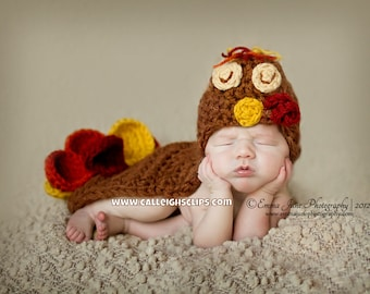 Tommy The Turkey Cuddle Critter Cape Newborn Photography Prop