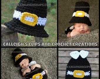 Pilgrim boy or girl cape set Newborn Photography props