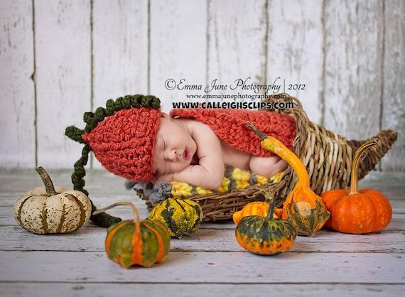 Pumpkin Patch Cuddle Critter Cape Set Newborn Photography Prop
