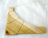 White Birch Bib Necklace