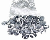 80Beads Charm 5mmx 8mm Rondelle White Veins Malachite Jasper Gemstone Loose Beads