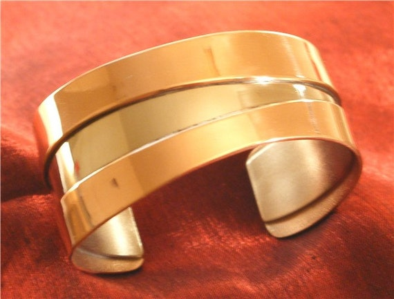Handcrafted Jewelry - Silver Copper Jewelry - Copper Bracelet BR-65