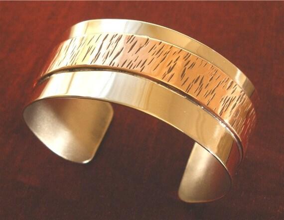Cuff Bracelet - Silver Copper Bracelet Cuff BR-66