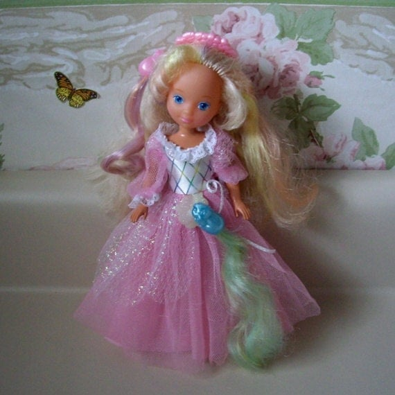 Vintage 1980s Toy Lady Lovely Locks Doll With Pixie Tails