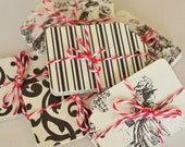 20 Vintage Style Gift Tags Black and White Hang Tag Wedding Supply Place Card Price Tag