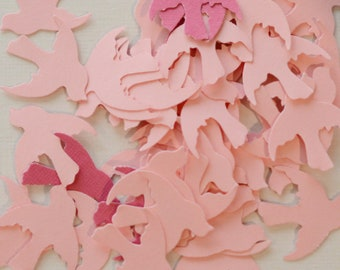 Paper Bird Die Cuts Pink Doves 100 pieces