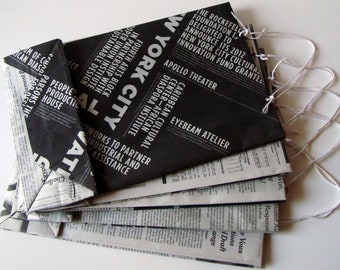 Recycled Newspaper Gift Bags - Large Size