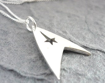 Trek Sterling Silver Handmade Pendant