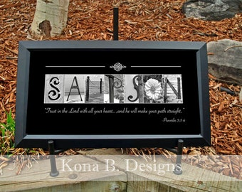 Personalized Alphabet Letter Photography  10x20 Print (unframed)