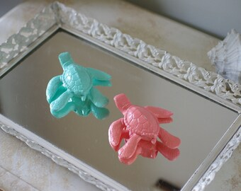 Beach Decor Cast Iron Baby Sea Turtle - PICK YOUR COLOR