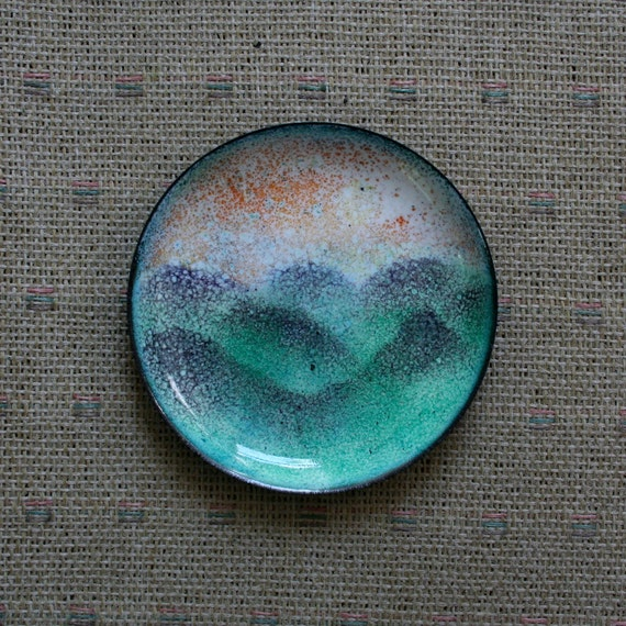 Smoky Mountain Sunset /  trinket dish / second