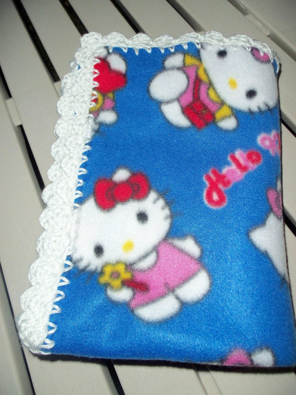 Crochet Pattern For Hello Kitty Baby Blanket : Baby Blanket Hello Kitty Fleece Royal Blue with by ...