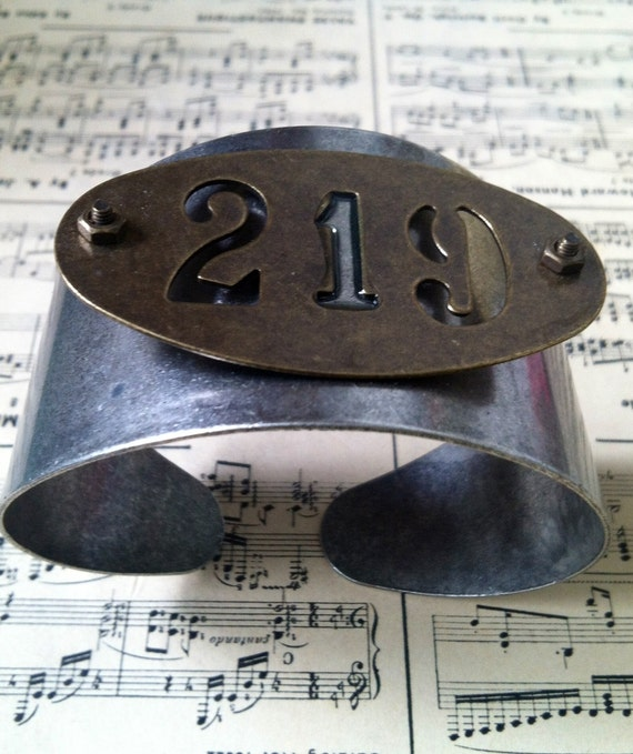 GREAT GIFT IDEA--- 219 Handmade Brass and Stainless Steel Metal Adjustable Bracelet Cuff