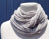 SILVER MERINO TWIST - Hand Spun Merino Wool Yarn. Squishy and Soft, Natural Fiber Feels Best Against Your Skin.