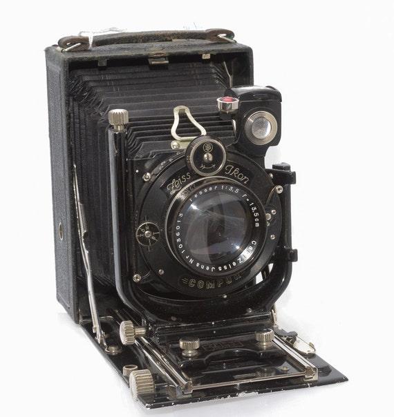 SALE -- Vintage Antique Camera Zeiss Ikon Trona 214/7 9x12cm (4x5) Folding Plate Camera, Tag 8