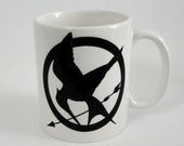 Mockingjay White Ceramic Mug - Inspired by The Hunger Games