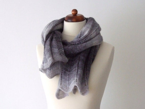 big cozy winter scarf, shades of grey