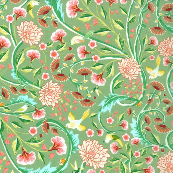 Birds & Berries - Floral Botanical Leaf by Lauren and Jessi Jung for Moda Fabrics