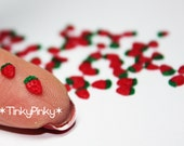 Polymer clay flatback miniature strawberries (20pcs) for nail art/scrapbooking/cupcakes/tarts/sweets