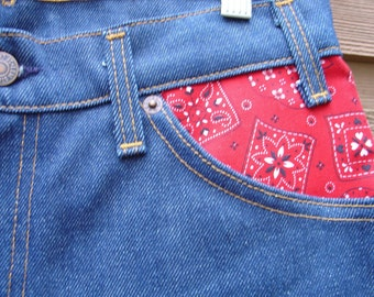 Levi's bandana print 1980s high waisted skinny jeans Women's Collector's Levi's zipper