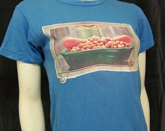 Vintage 1970s franks and beans Tshirt Russell Athletic Small
