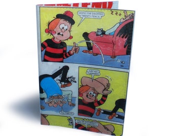 Mini The Minx Passport Cover - Upcycled Beano Comic in Vinyl