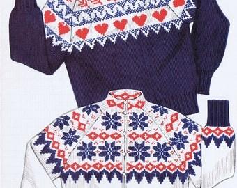 Knit-O-Graf Norwegian Style Adult Ski Sweater Pattern