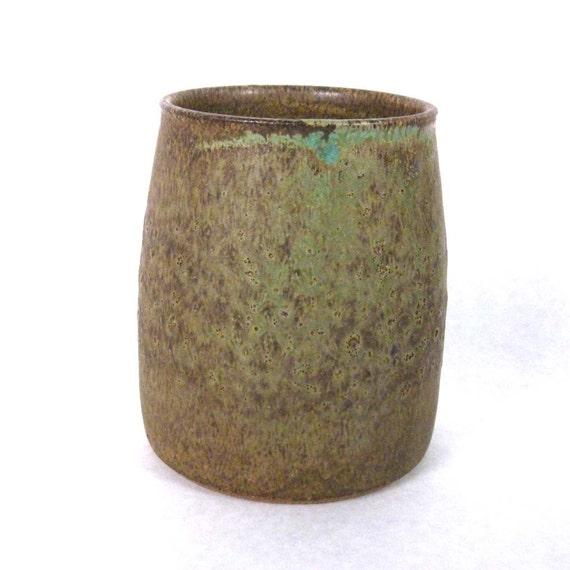 Stoneware Pottery Mug with No Handle