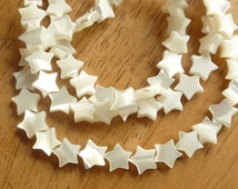 Full  strand (55pcs)  Mother of pearl, , star beads   (8mm), MOP star