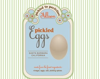 in a pickled egg - pickled eggs - custom pickle label